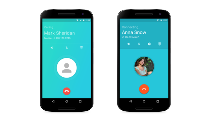 Yolla call screen - updated for Android