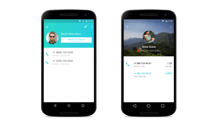 yolla contact screen update on android