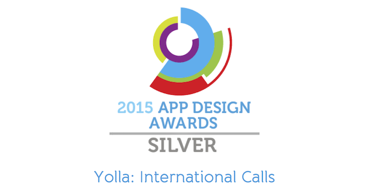 Yolla becoming a Silver Winner of UK App Design Awards