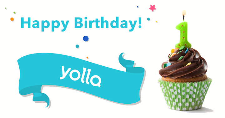 Yolla Calls just turned 1 year, happy birthday Yolla!