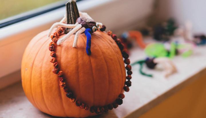decorated halloween pumpkin