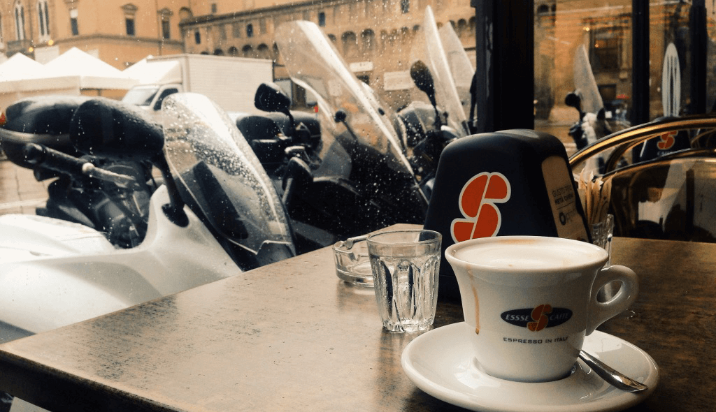 cup of coffee in Bologna