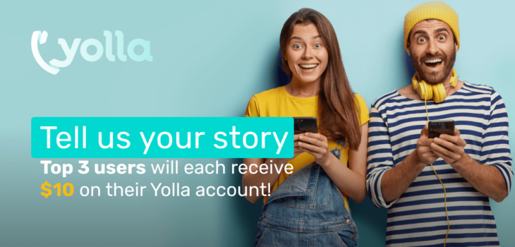 yolla promo rules tell us your story